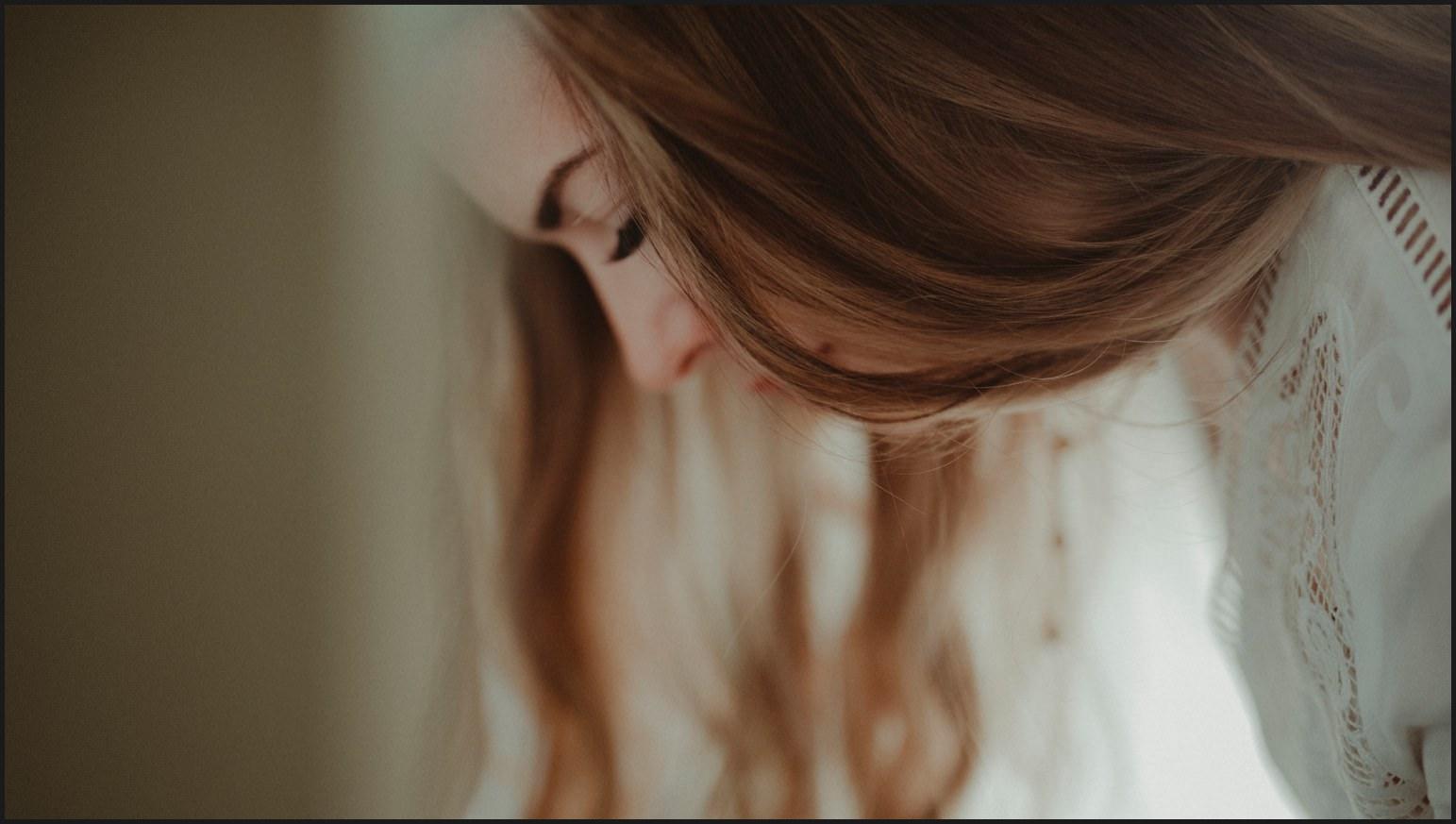 bride, details, hair, eyelashes