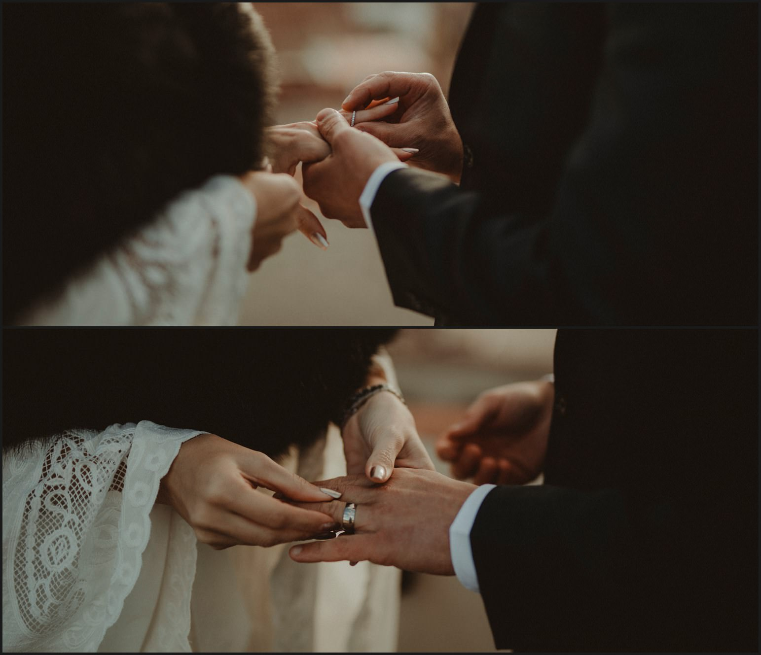 details, wedding rings, bride, groom, elopement