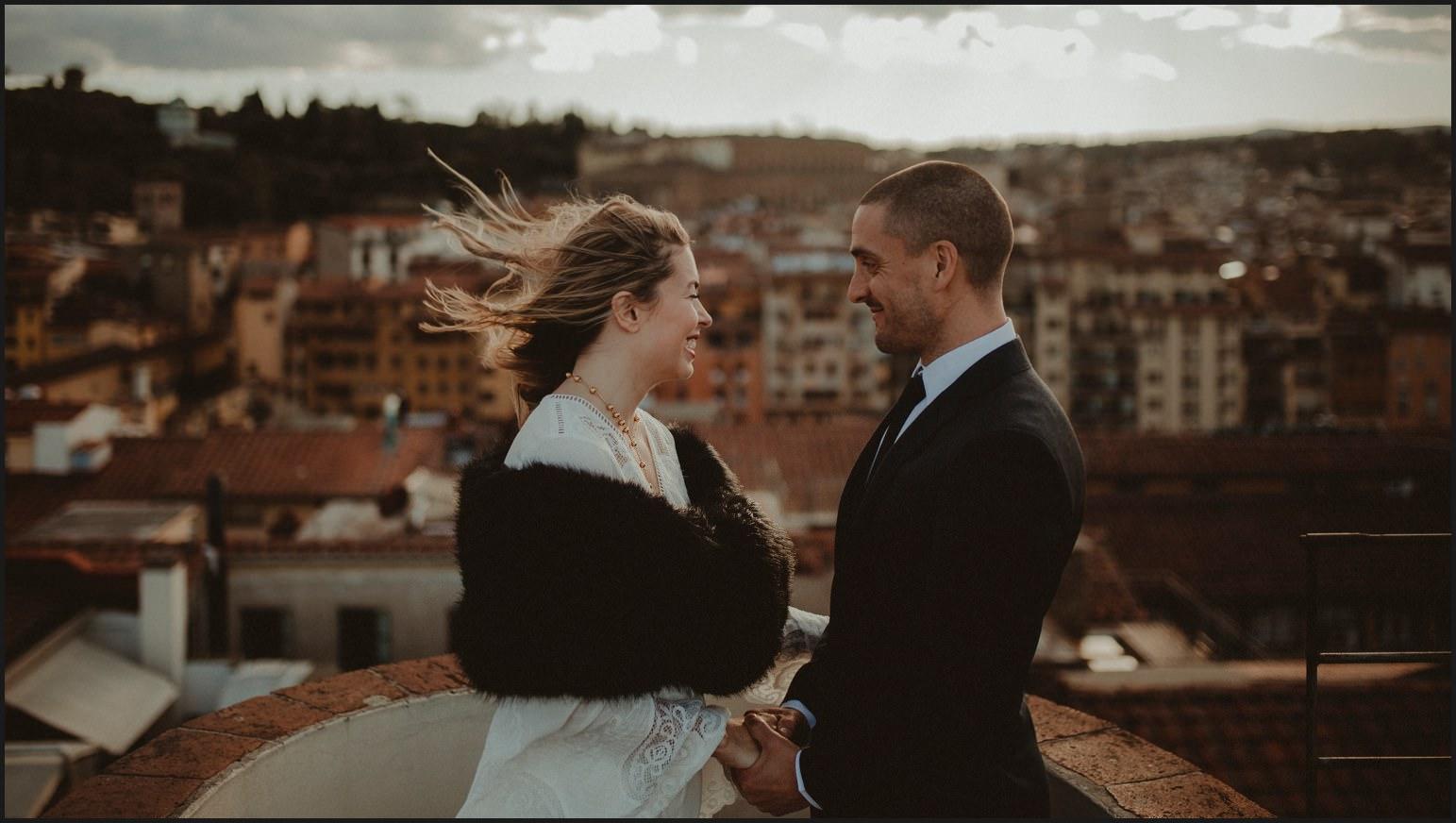 bride, groom, elopement, florence, hotel torre guelfa