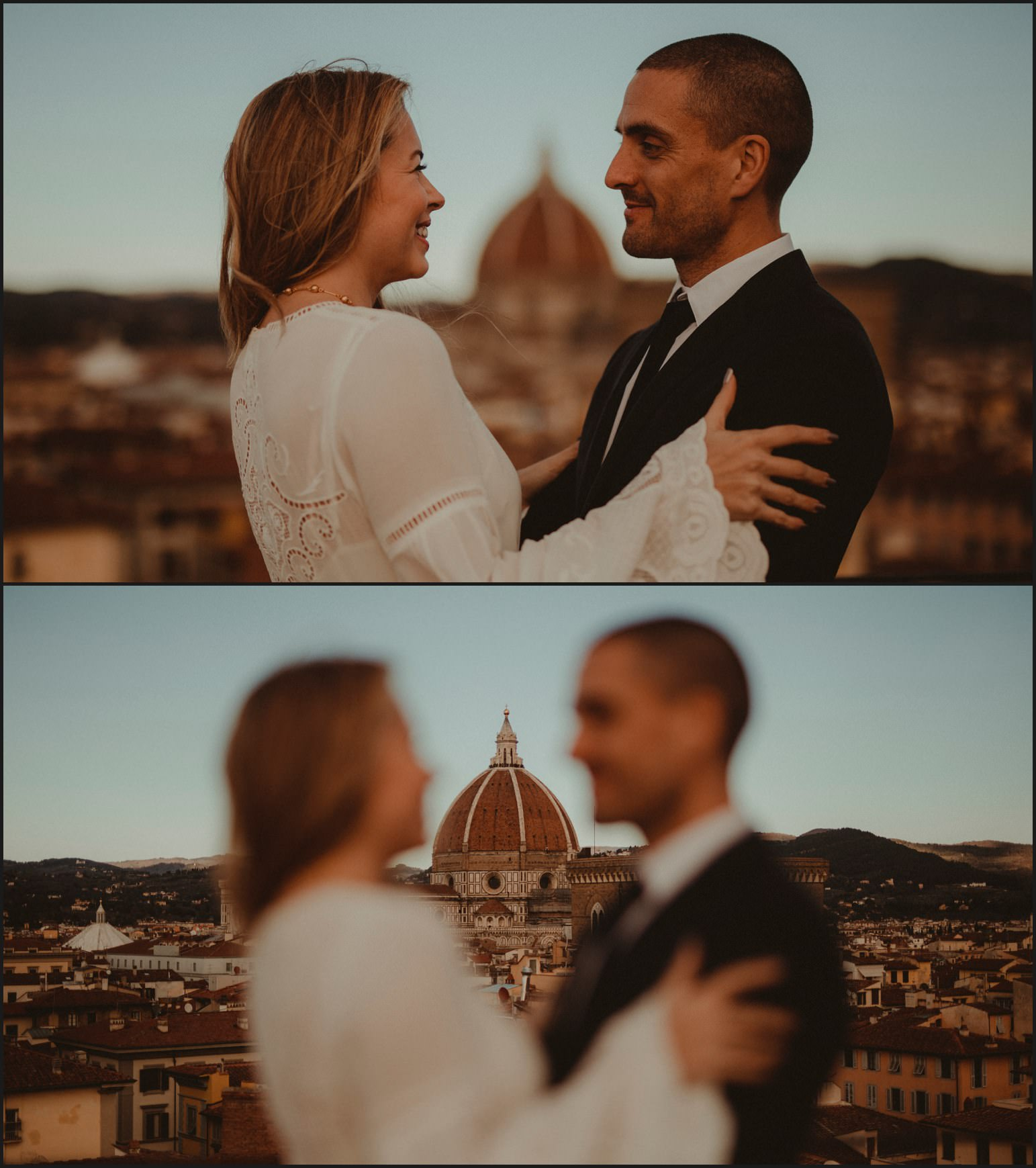 bride, groom, florence, dome, elopement