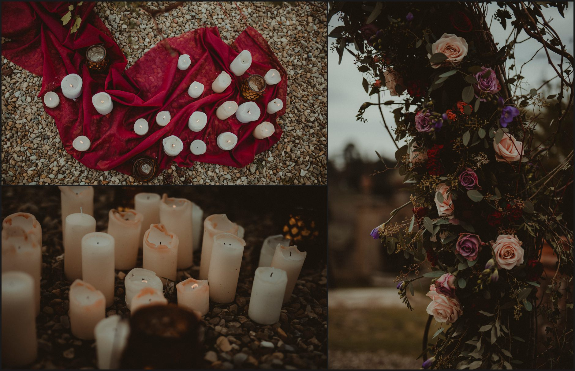 candles, wedding, details, villa medicea di lilliano, flowers