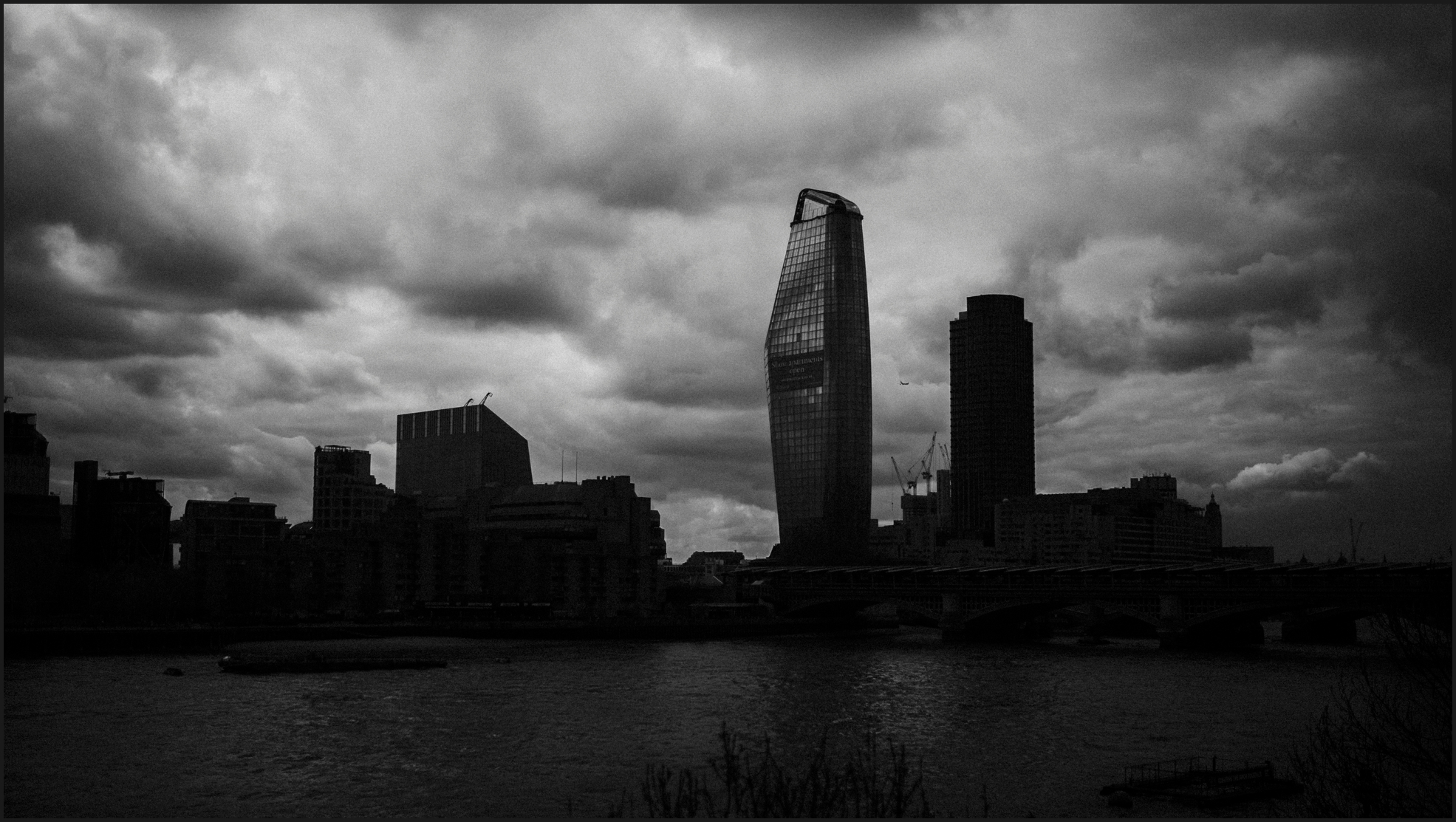 black and white, landscape, london