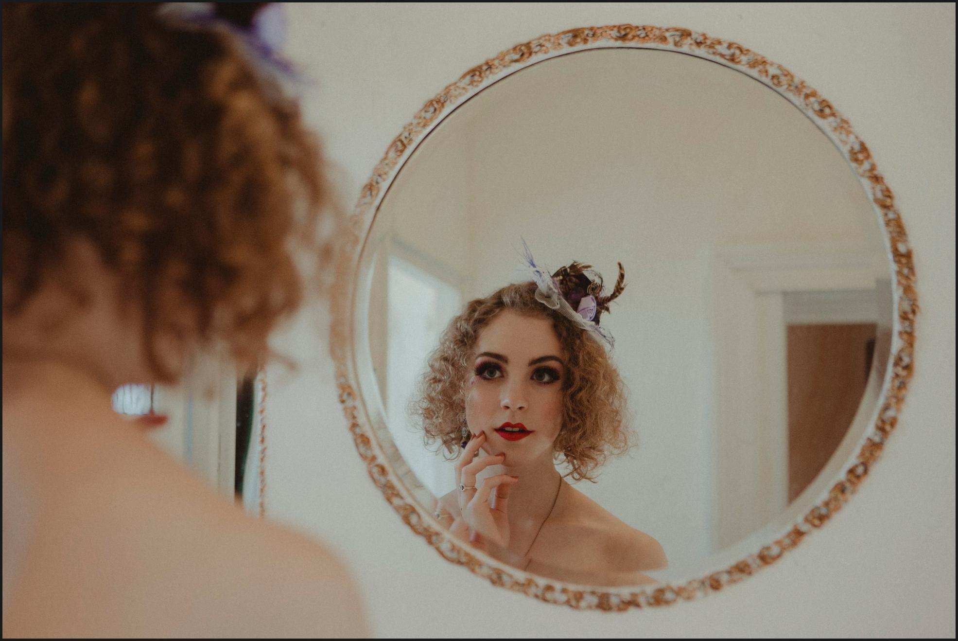 bride, preparation, make up, mirror