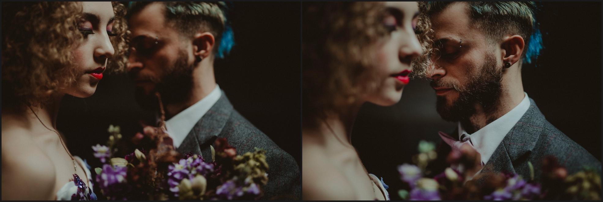 bride, groom, wedding portrait, steampunk, London