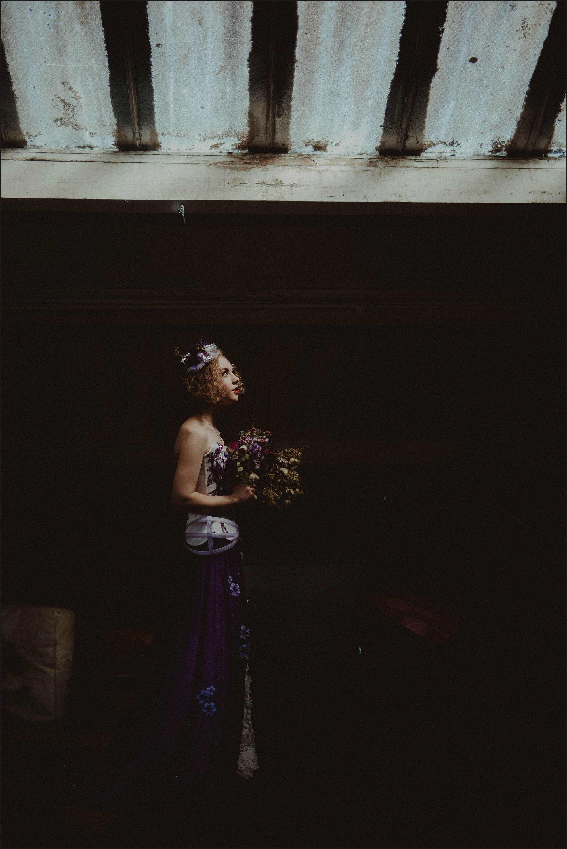 bride, portrait, steampunk, wedding, light, location, London