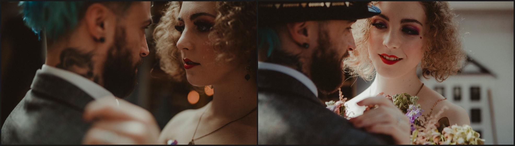 bride, groom, steampunk wedding, alternative wedding photographer, London, intimate, wedding photographer, smile