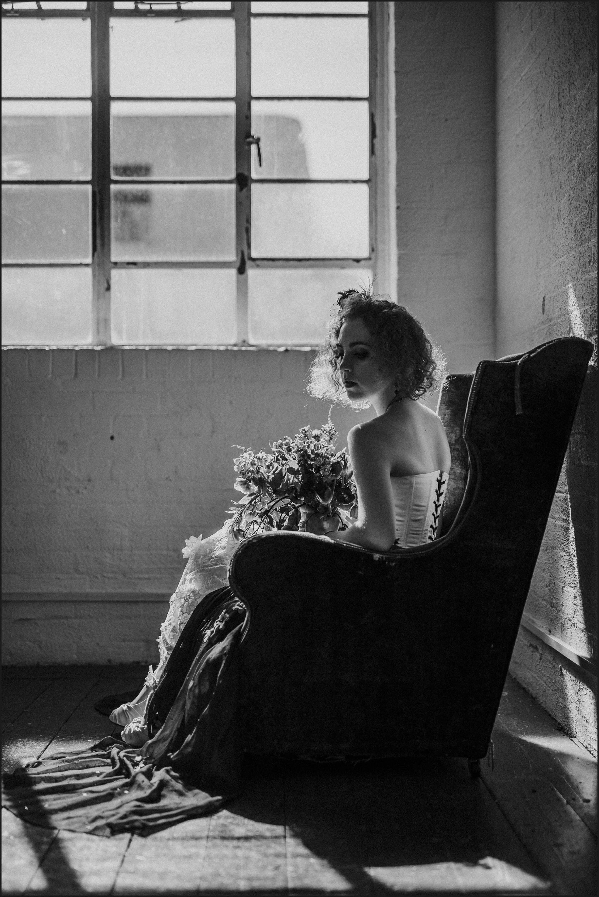 rock, bride, black and white, steampunk