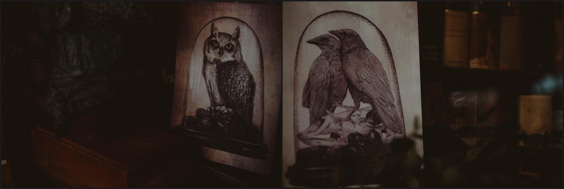 stationary, wedding, owl, crow, wedding, gothic, raven, London