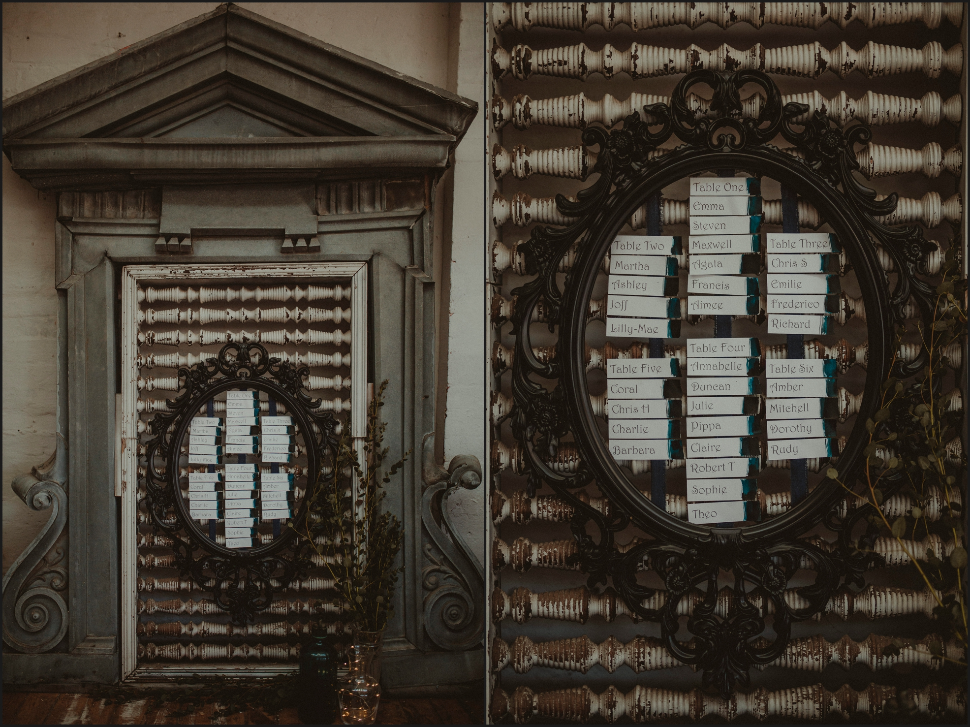 tableau, steampunk wedding, detail
