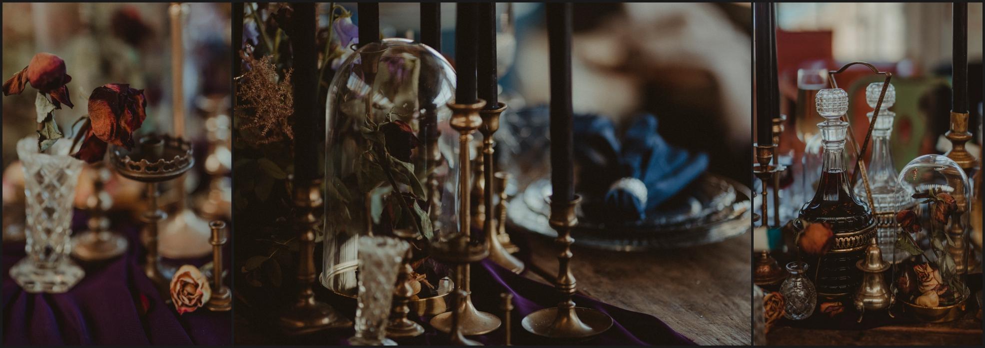 wedding details, vintage wedding, candles