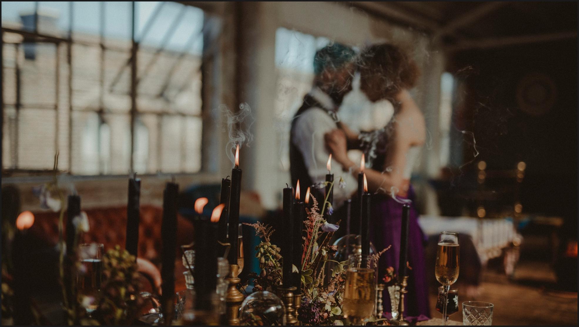 alternative wedding photographer, blurry image, steampunk