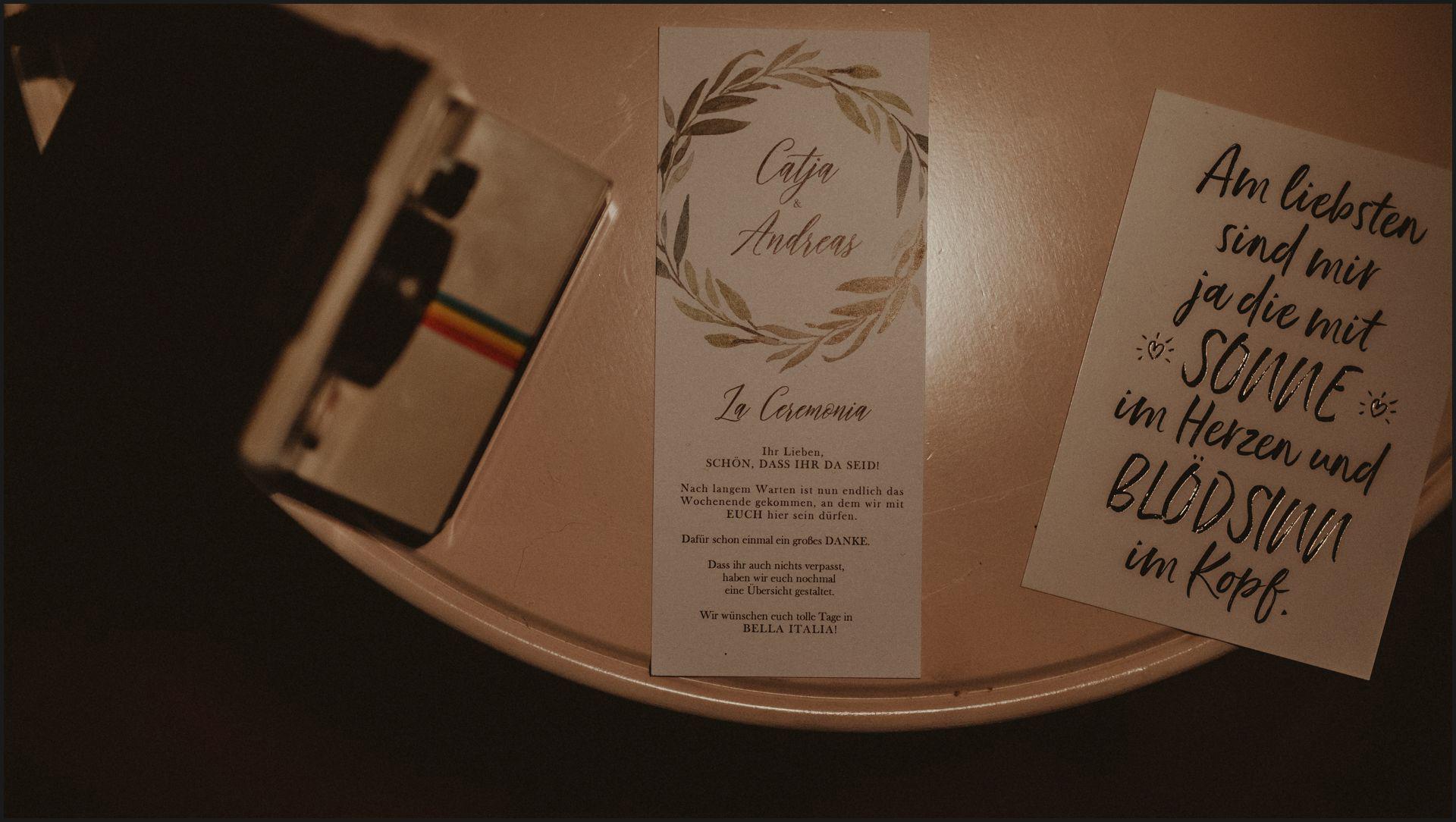wedding stationary, umbria, nikis resort