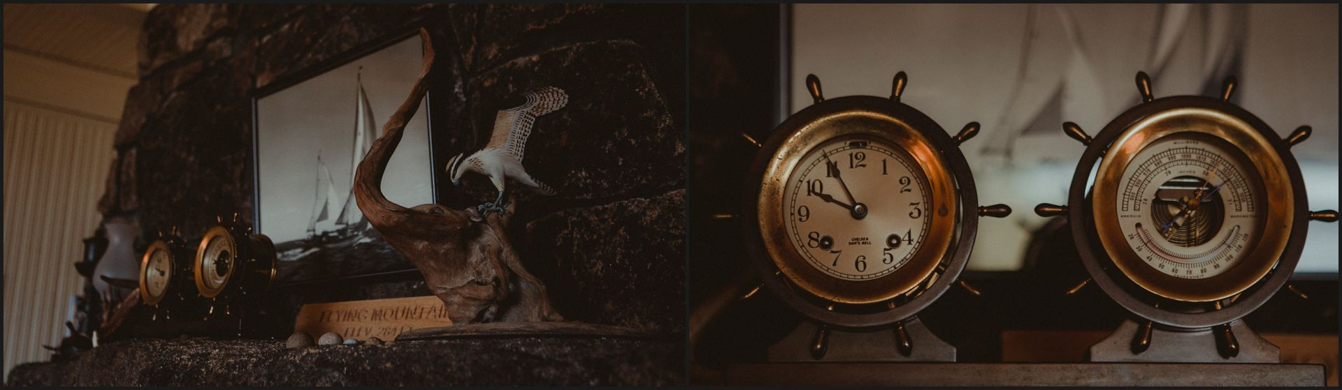 cottage, clock