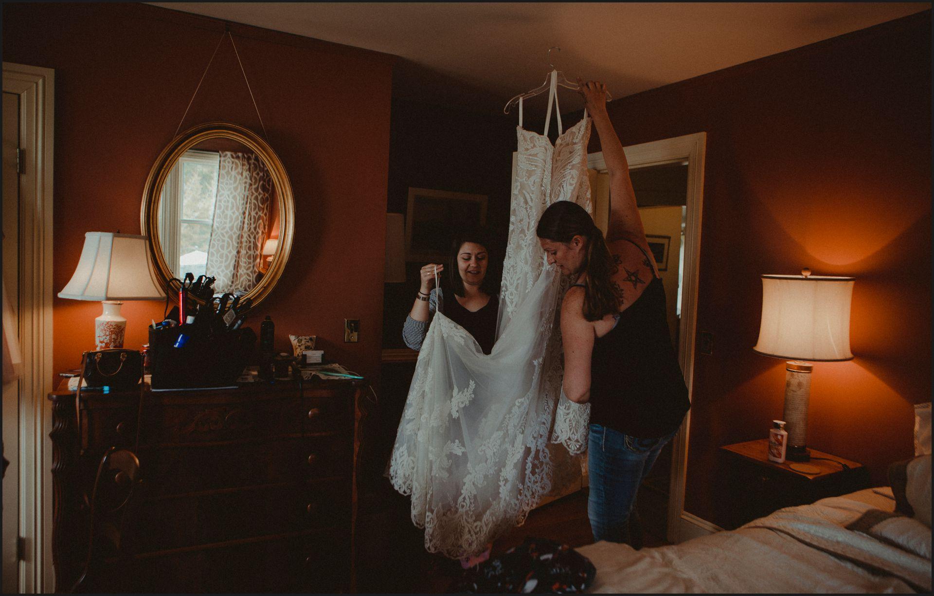 wedding, wedding preparation, wedding dress, wedding gown, maine wedding