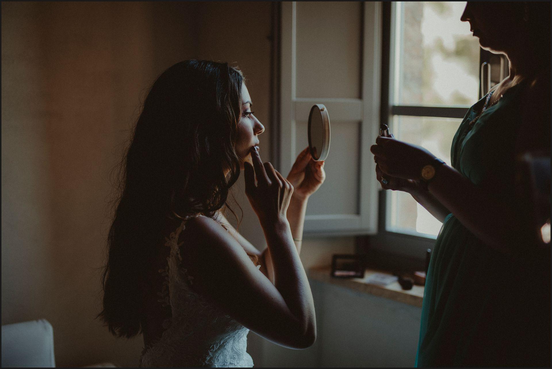 bride, wedding dress, getting ready, wedding, umbria, make up