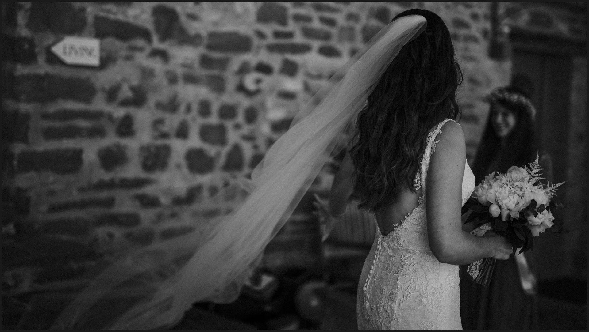 black and white, portrait, wind, hair, wedding, bride, umbria, nikis resort , veil