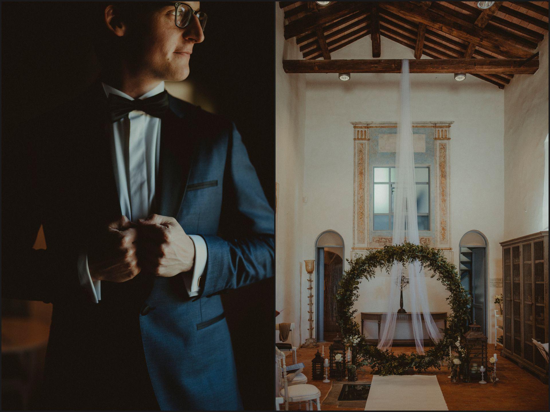 groom, jacket, ceremony, wedding, nikis resort, umbria