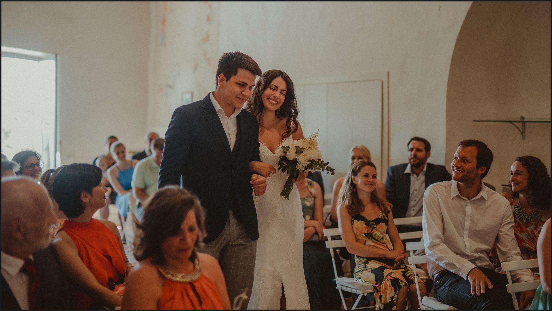 walking the aisle, bride, wedding, ceremony, umbria, nikis resort