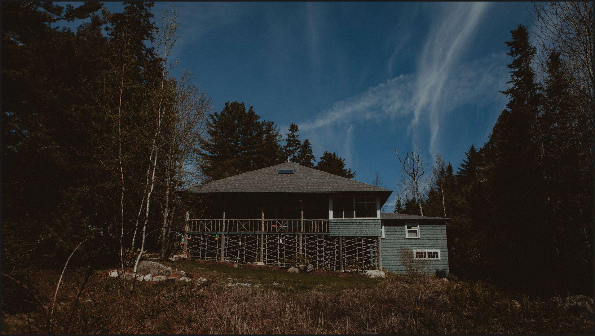 wedding venue, maine, acadia national park, cottage, ocean, blue sky, north american wedding