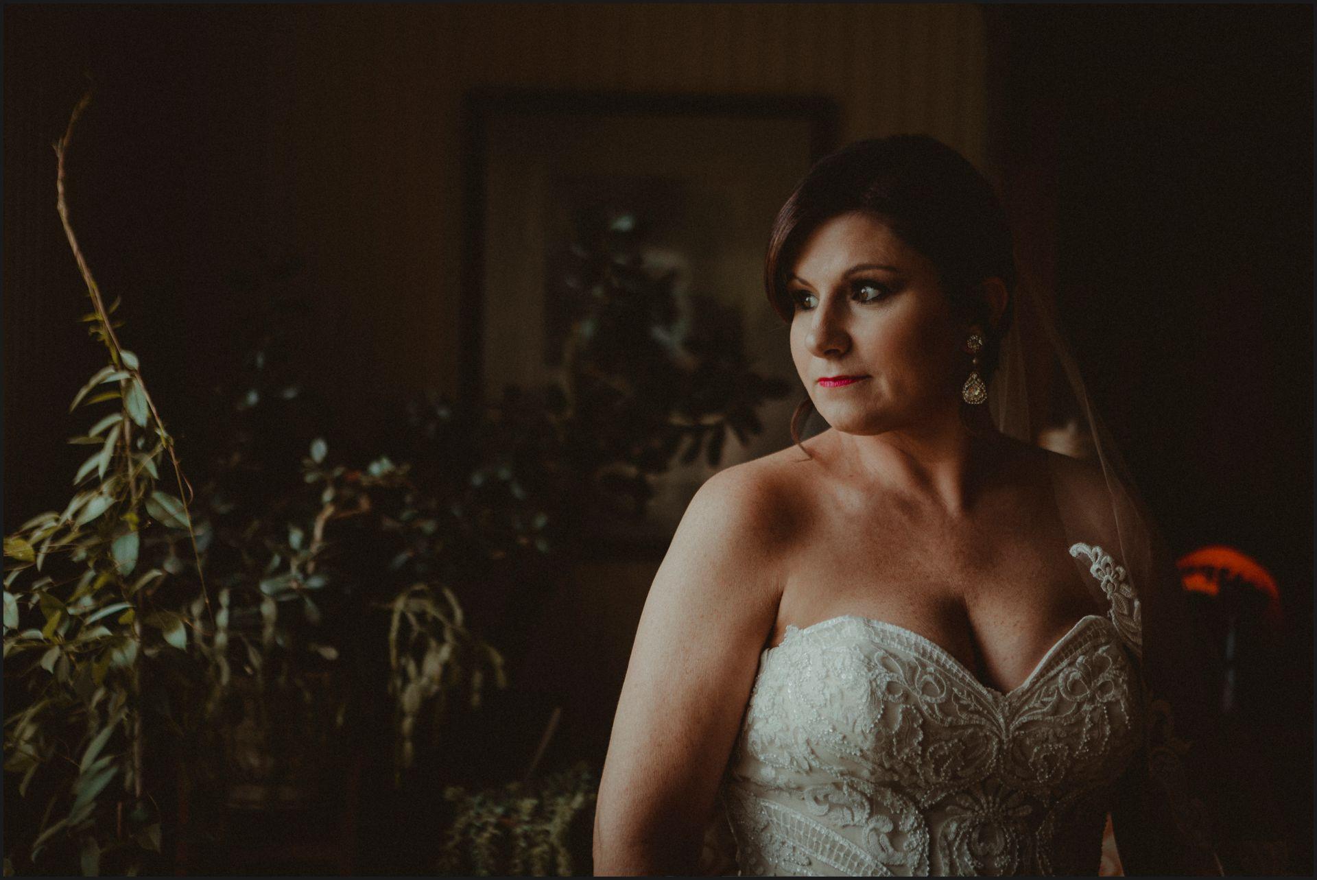 wedding in maine, bride portrait, wedding dress