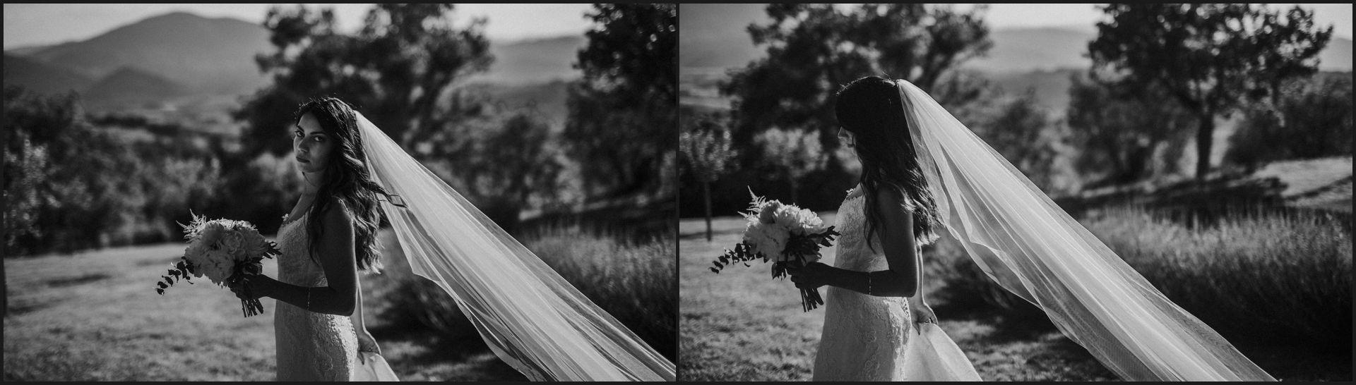 black and white, wedding, umbria, nikis resort, bride, veil, dramatic, alternative