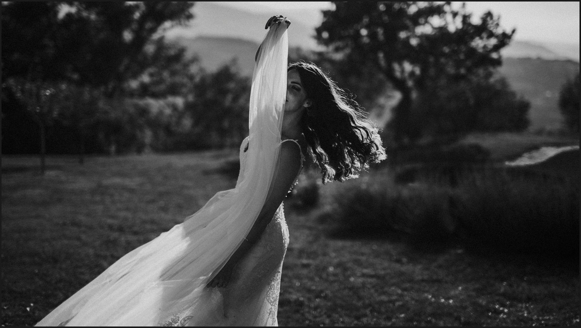 black and white, wedding, umbria, nikis resort, bride, alternative, veil