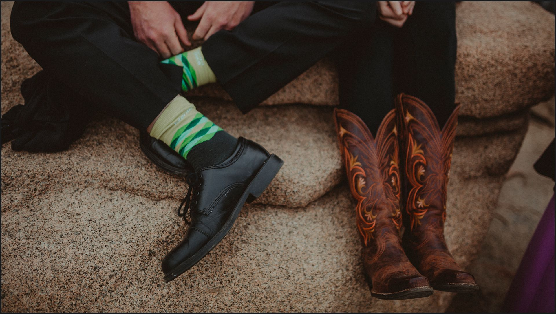 wedding guests, maine wedding, wedding, shoes, details, candid, funny moment, funny socks