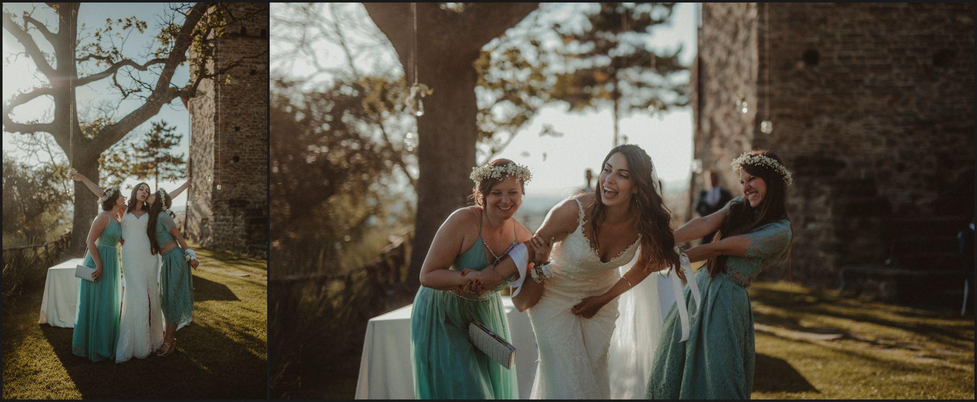 bridemaids, bride, wedding, funny pictures, wedding, umbria, nikis resort