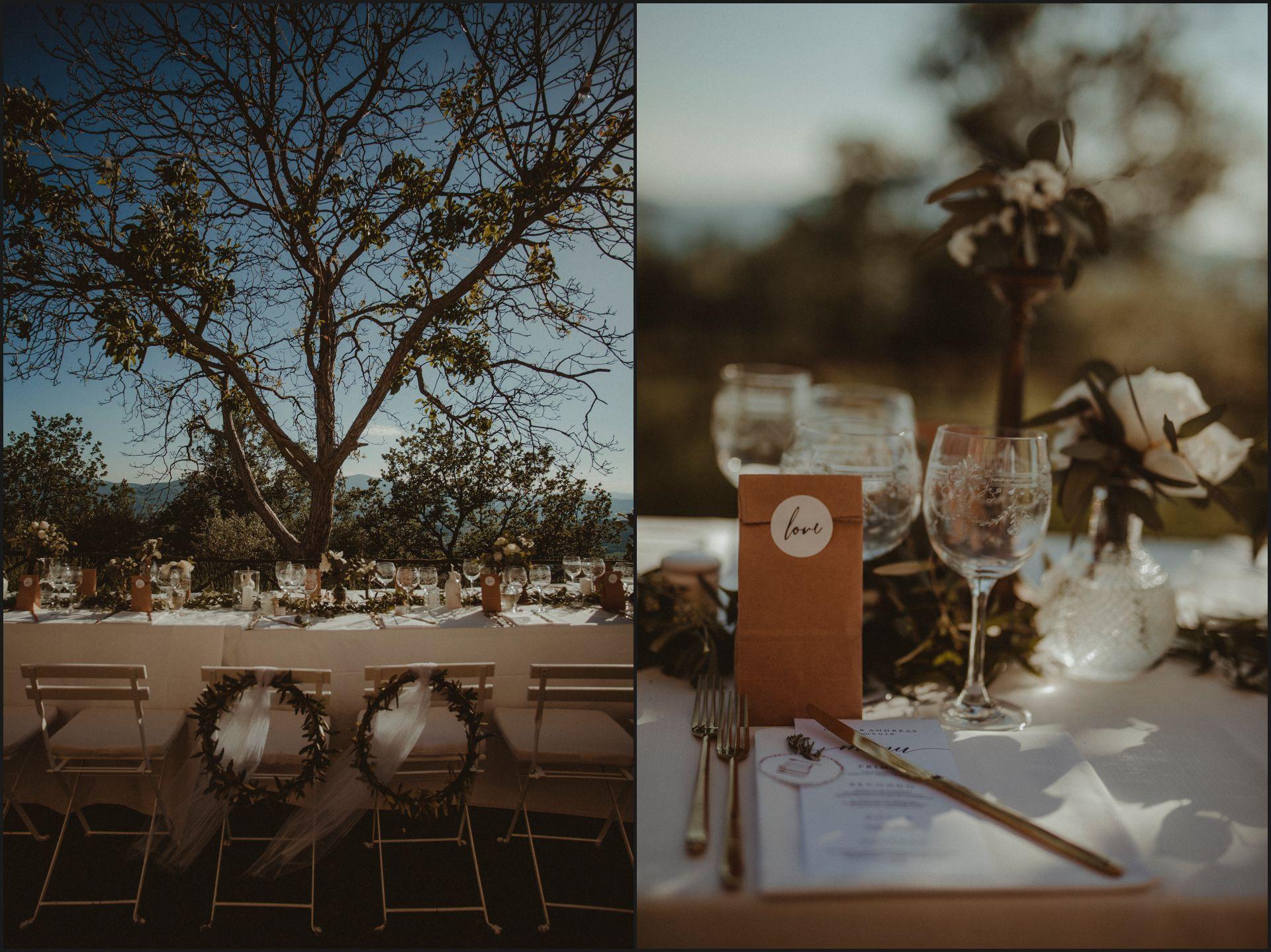 wedding, details, table set, menu, umbria, nikis resort