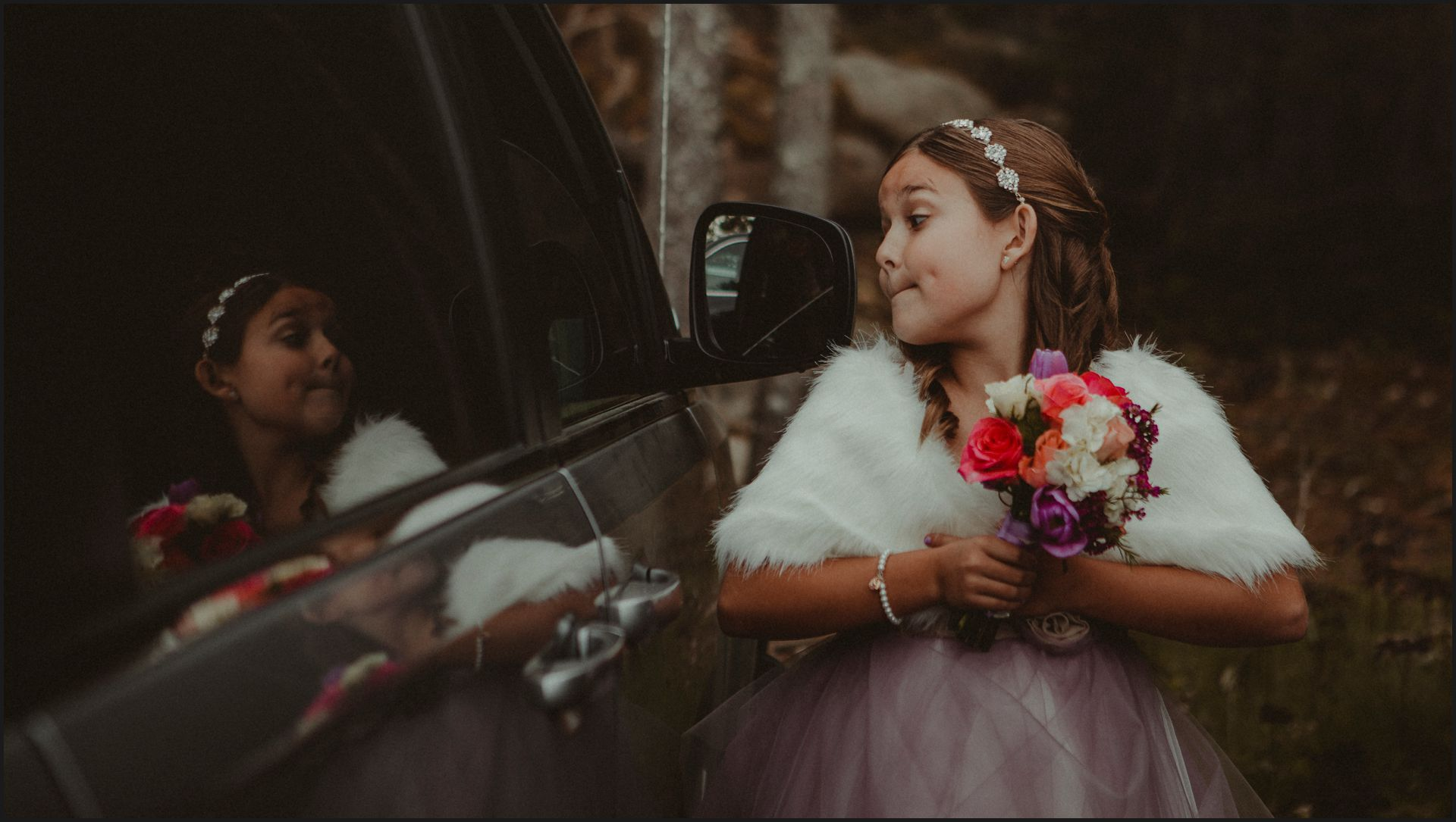 wedding, maid of honour, child, wedding flowers