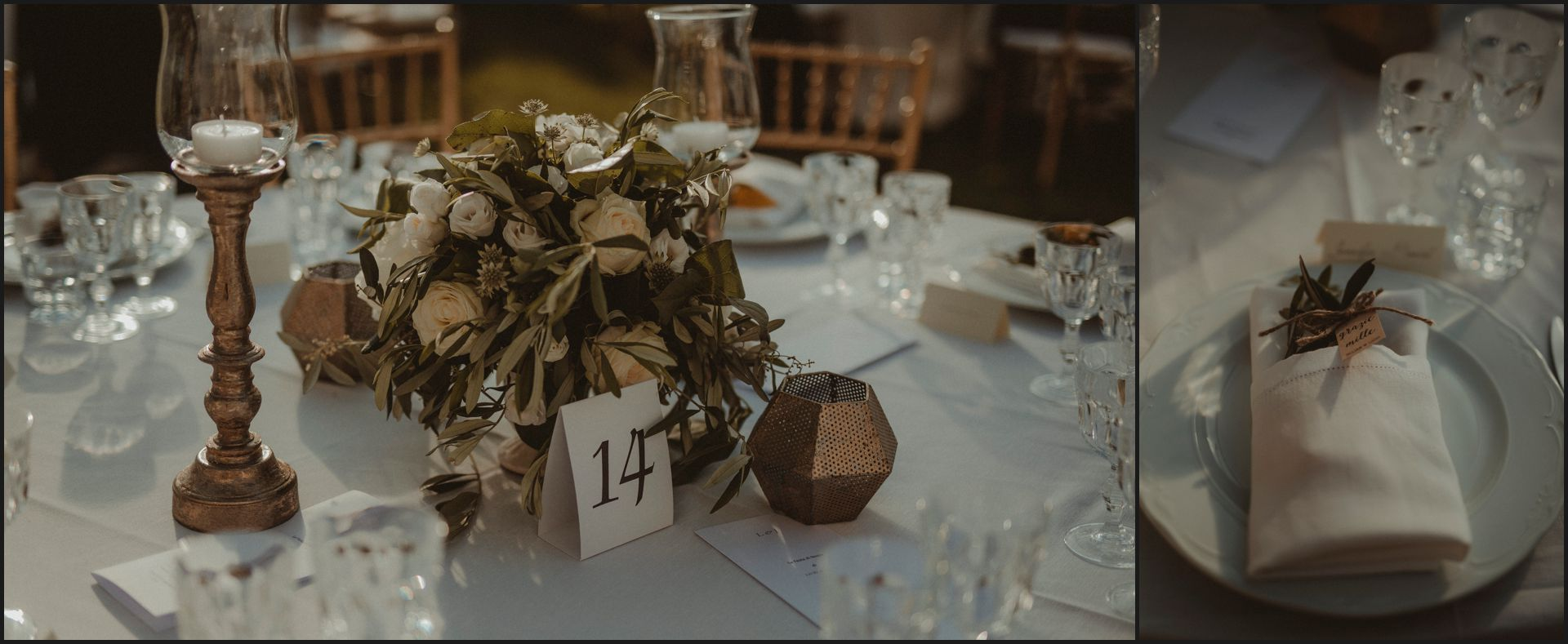 tenuta di canonica, umbria, wedding, table set