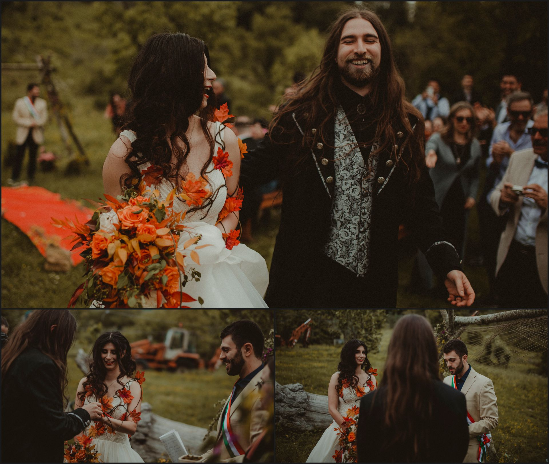 tuscany, alternative wedding, rustic wedding, bride, groom