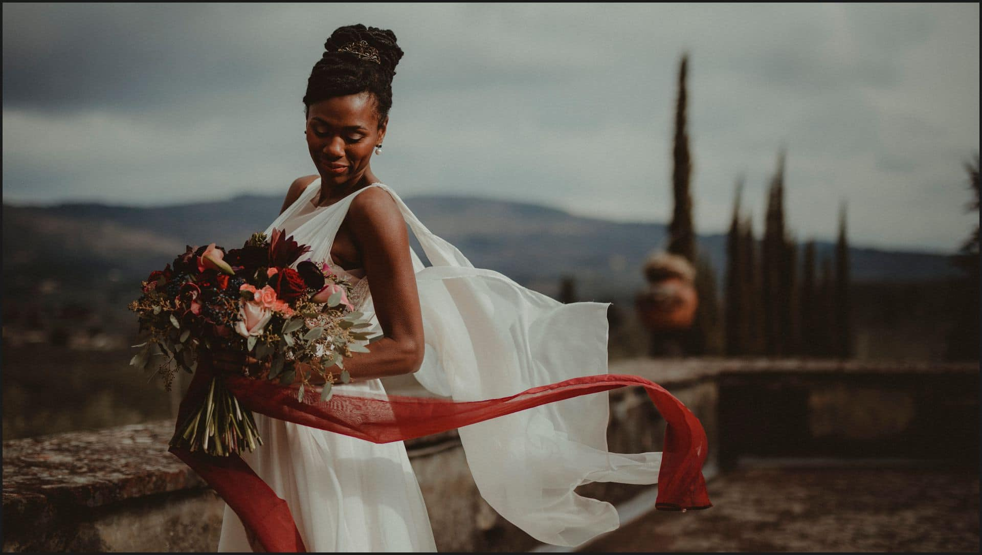 tuscany, wedding, bride