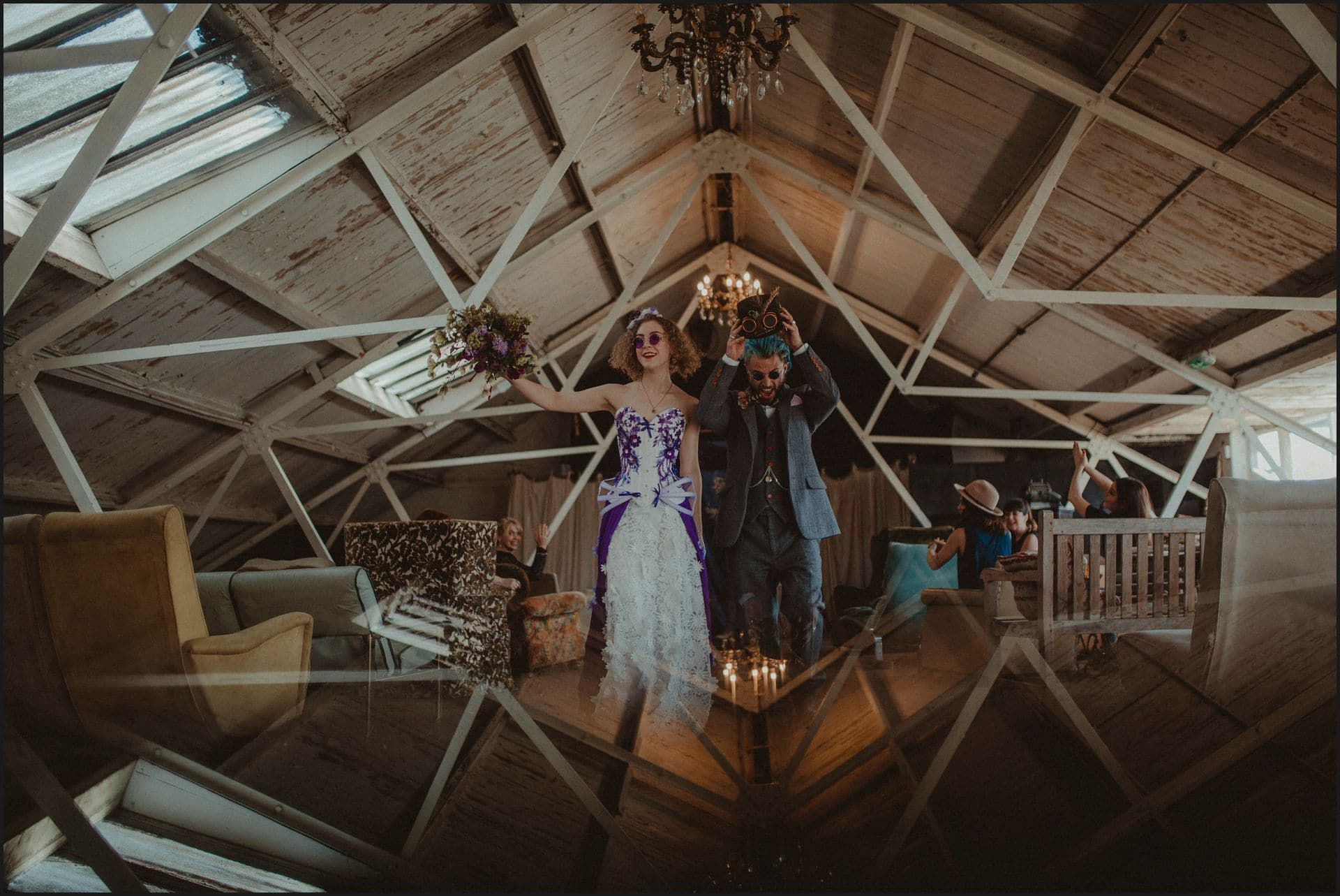 steampunk wedding, london, wedding, bride, groom