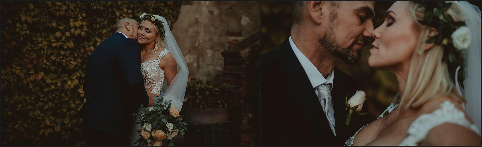 romance, bride, groom, intimate, kiss, destination wedding, locanda in tuscany
