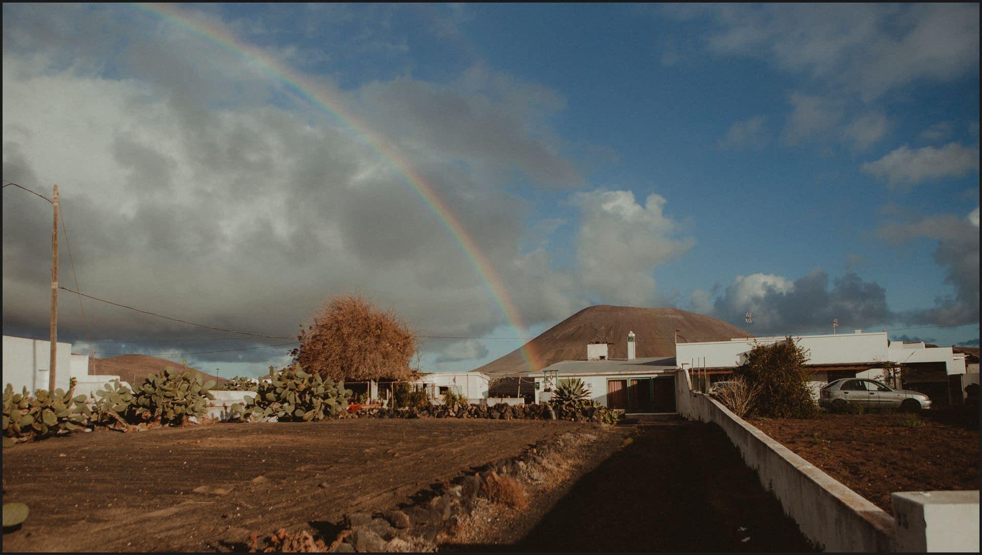 lanzarote, san bartolome, rainbow