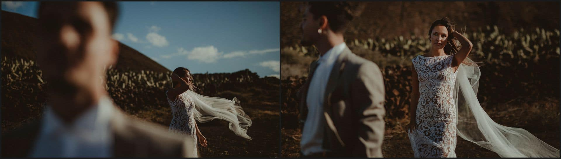 lanzarote, wedding, first look, bride, groom, emotions