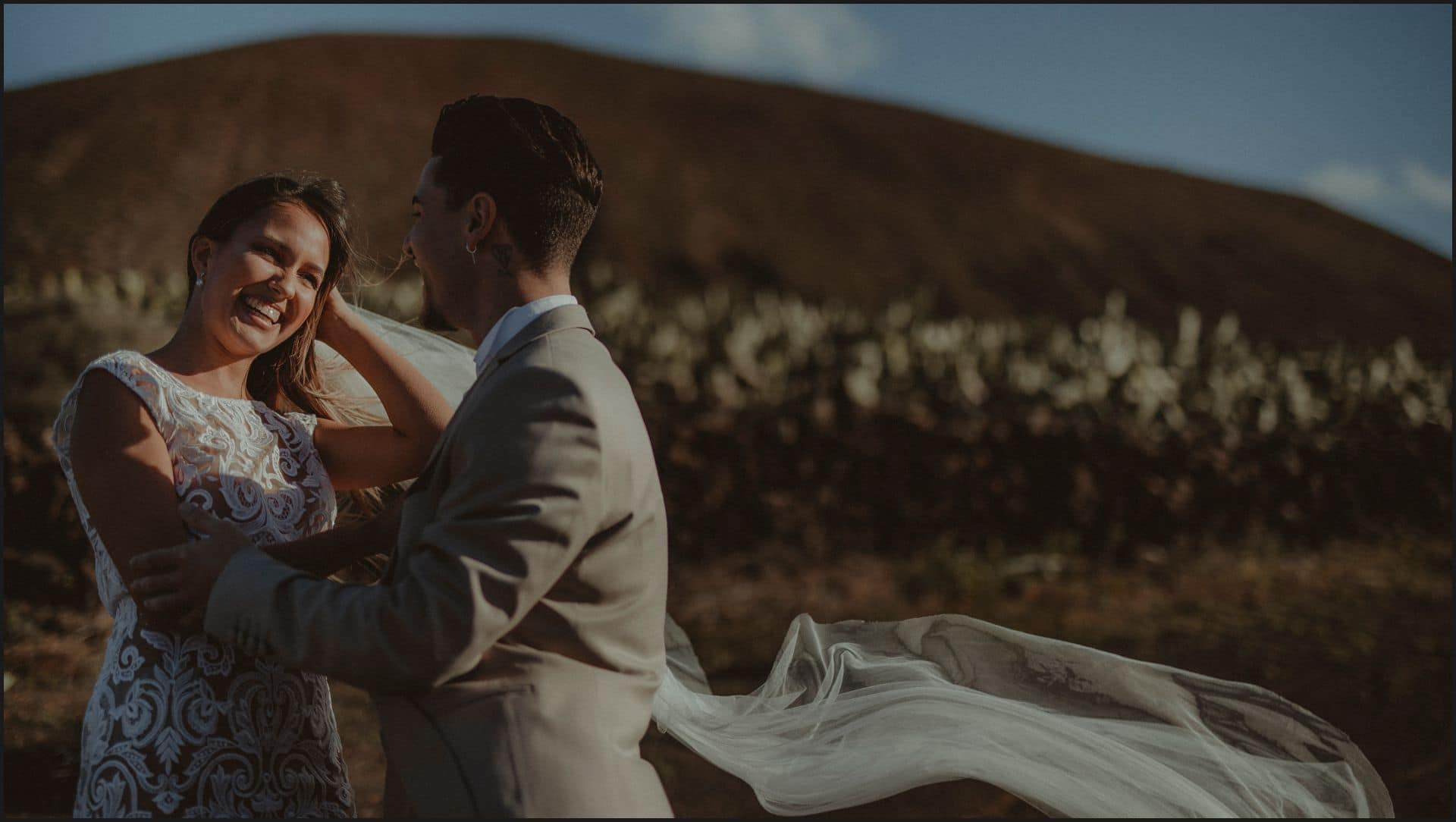 lanzarote, wedding, first look, bride, groom,