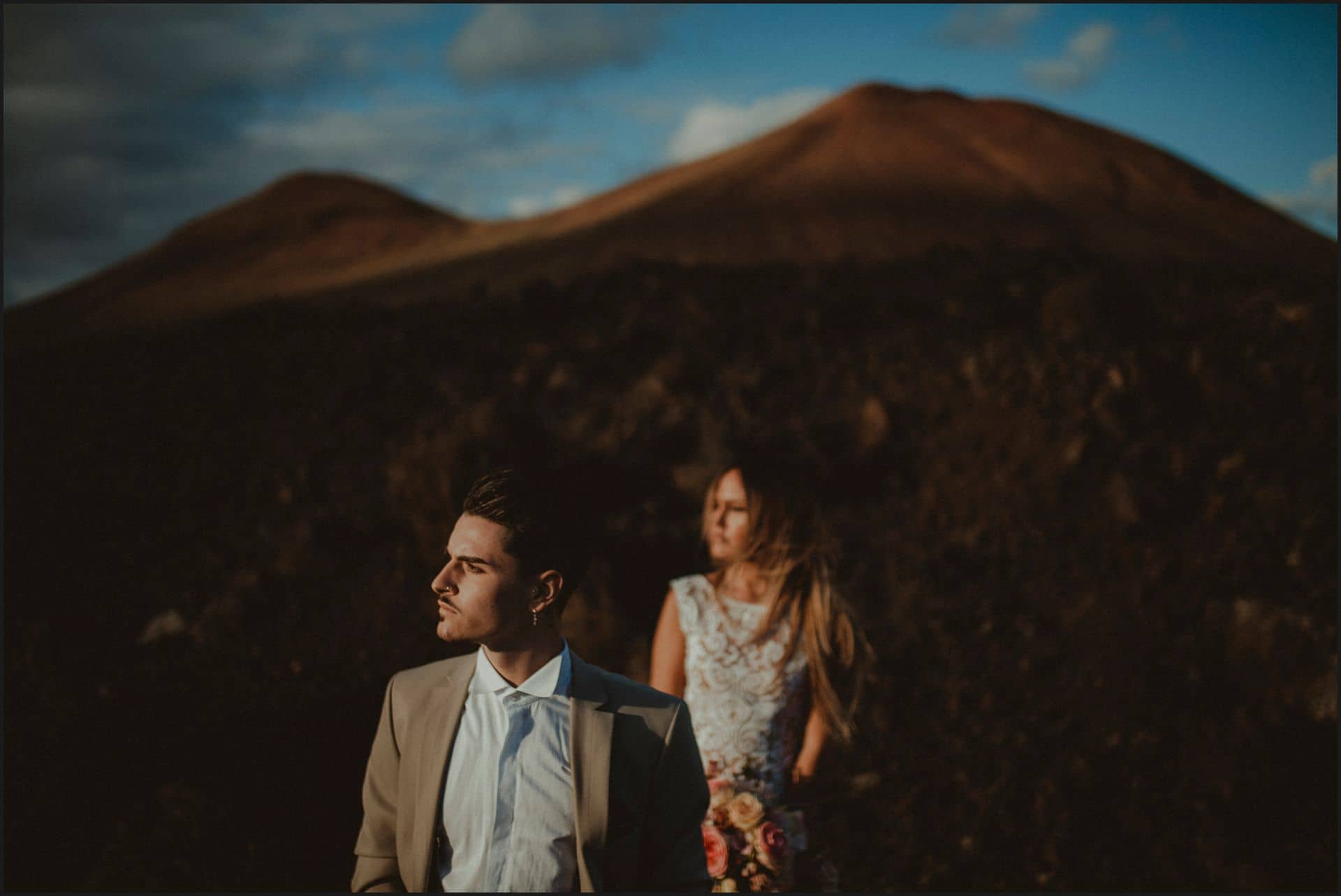 lanzarote, wedding, elopement, bride, groom, vulcans,