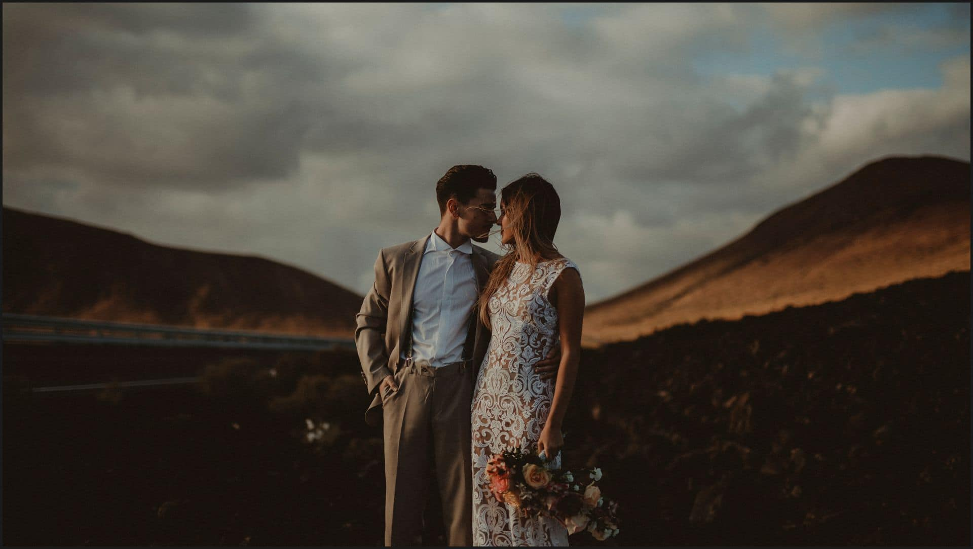 lanzarote, wedding, elopement, bride, groom, el golfo