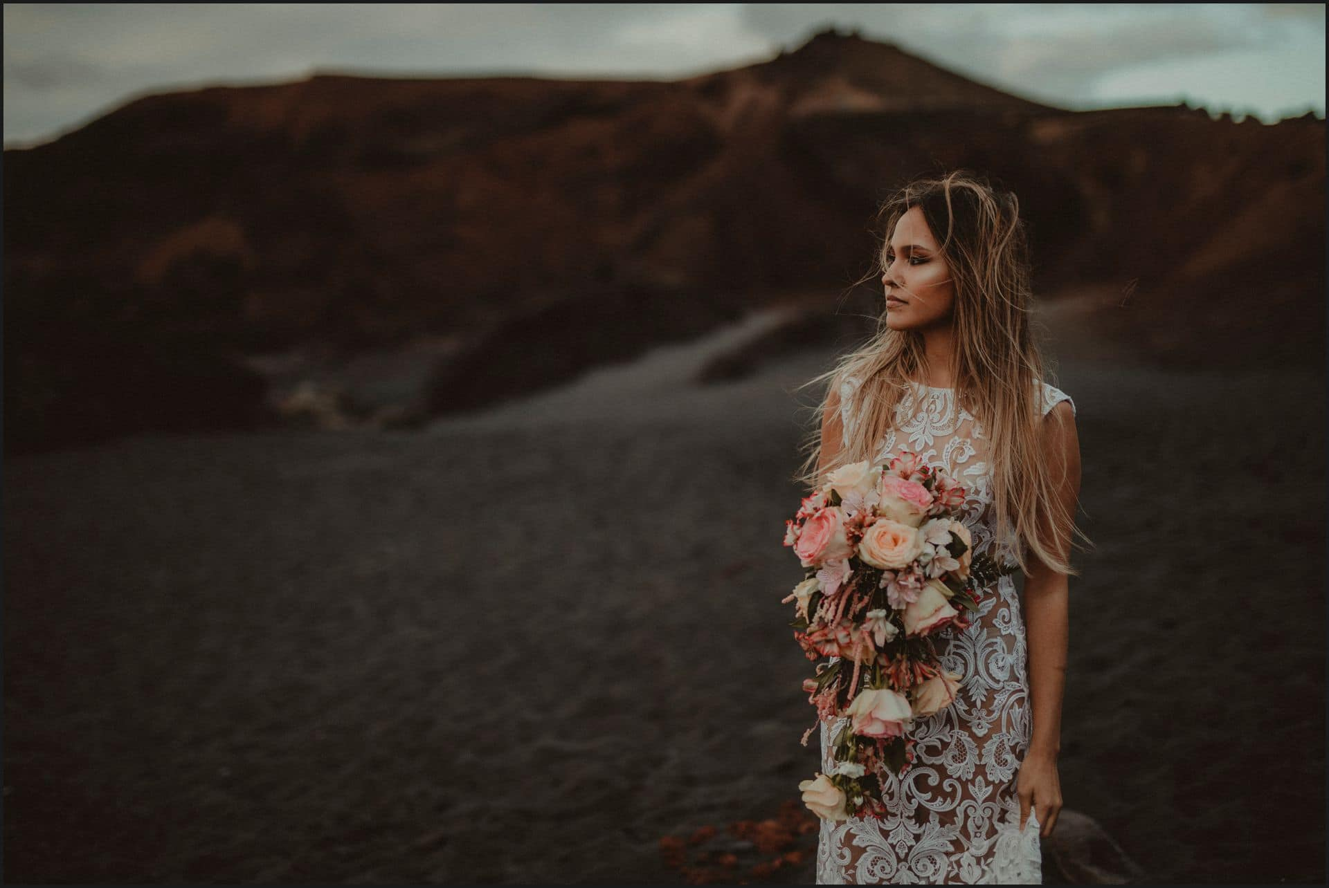 lanzarote, wedding, elopement, bride, adventure wedding, beach