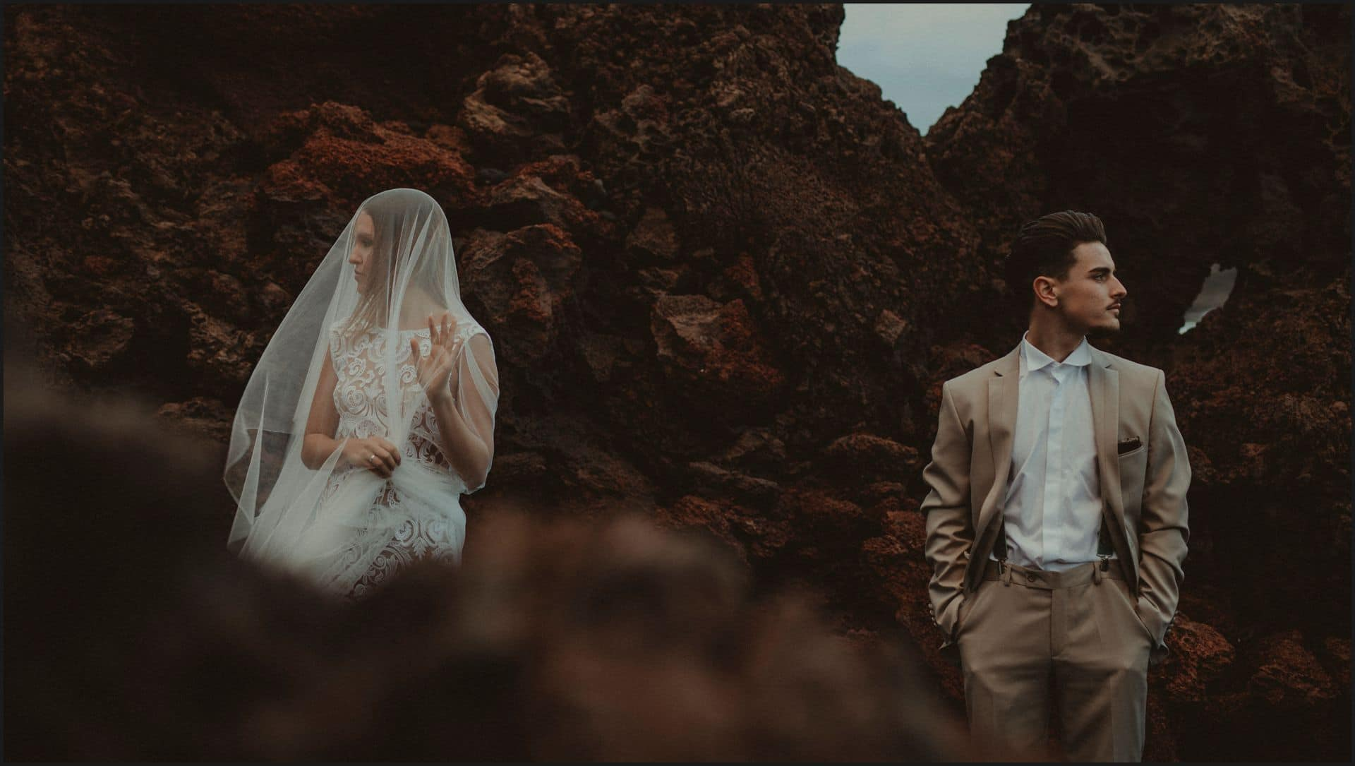 lanzarote, wedding, elopement, bride, groom, adventure wedding