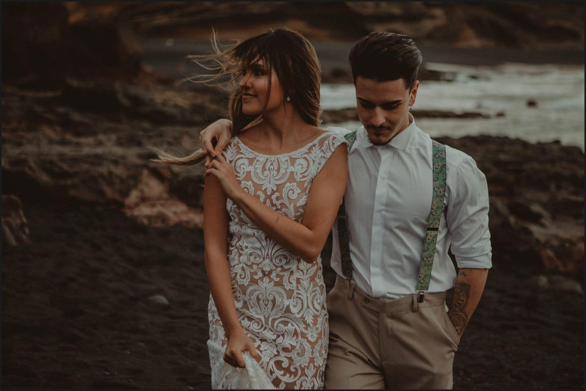 lanzarote, wedding, elopement, bride, groom, adventure wedding, candid, happy