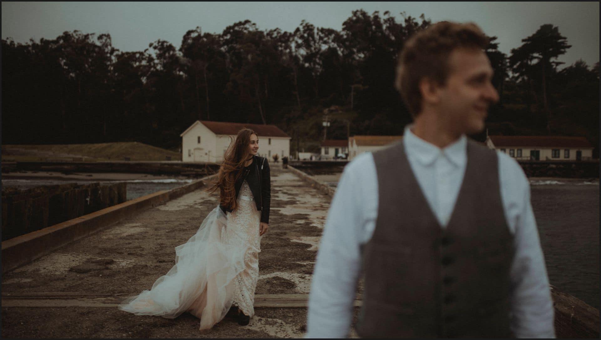 san francisco, california, elopement wedding, first look. bride, groom