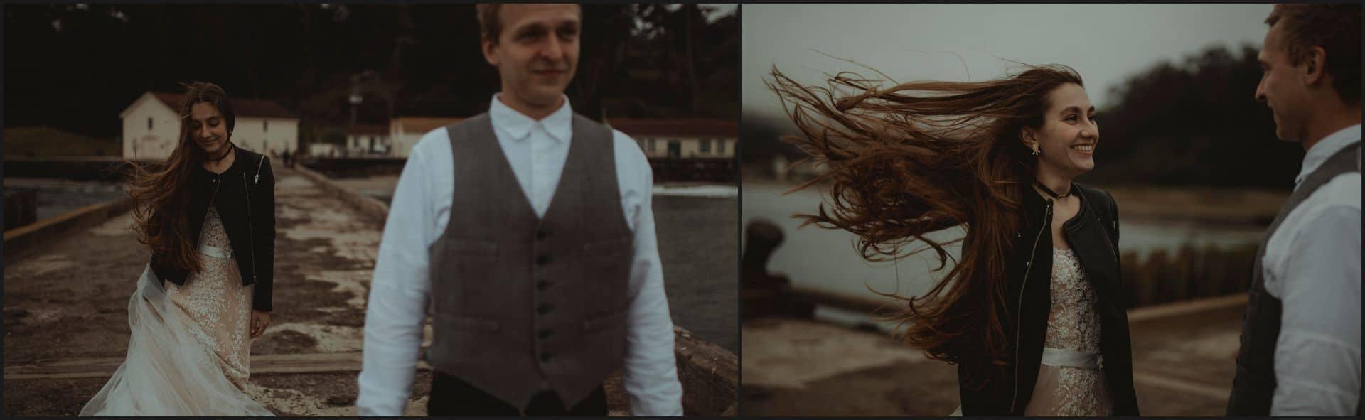 san francisco, california, elopement wedding, bride, groom, first look
