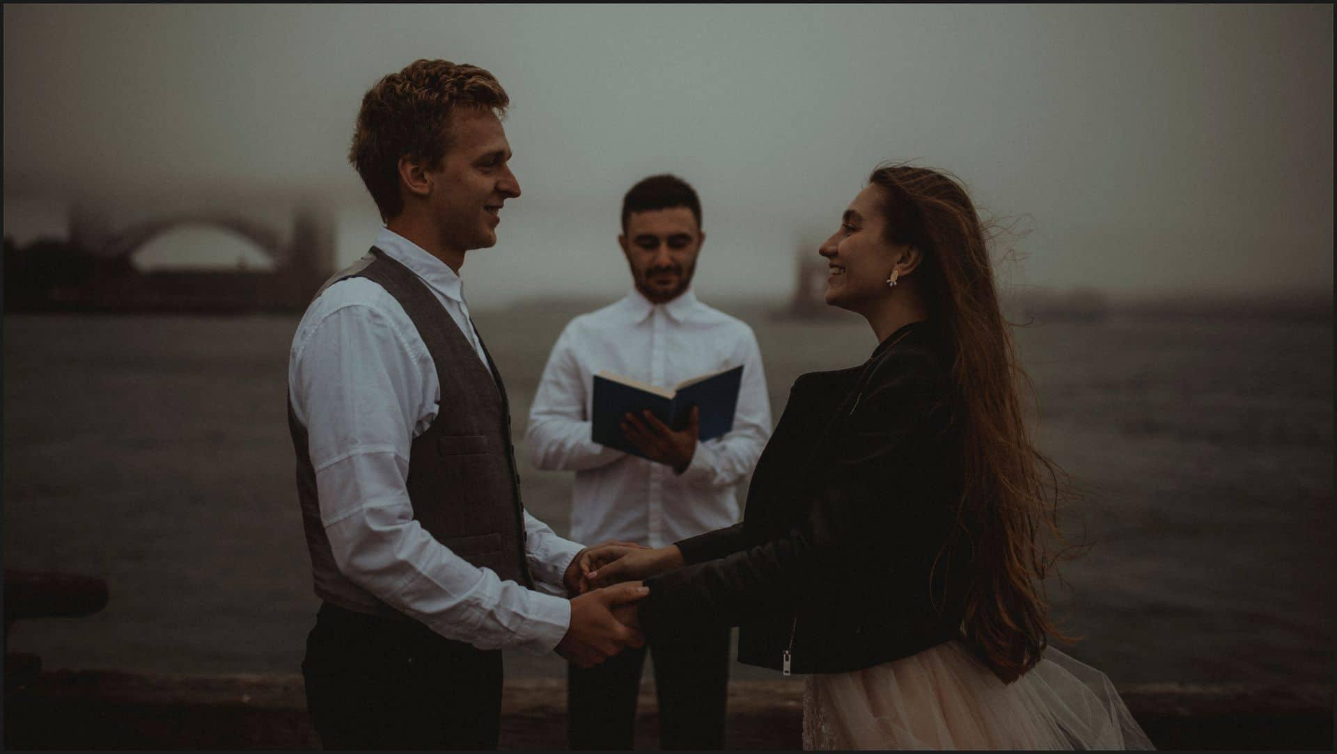 san francisco, california, elopement wedding, bride, groom, symbolic, ceremony