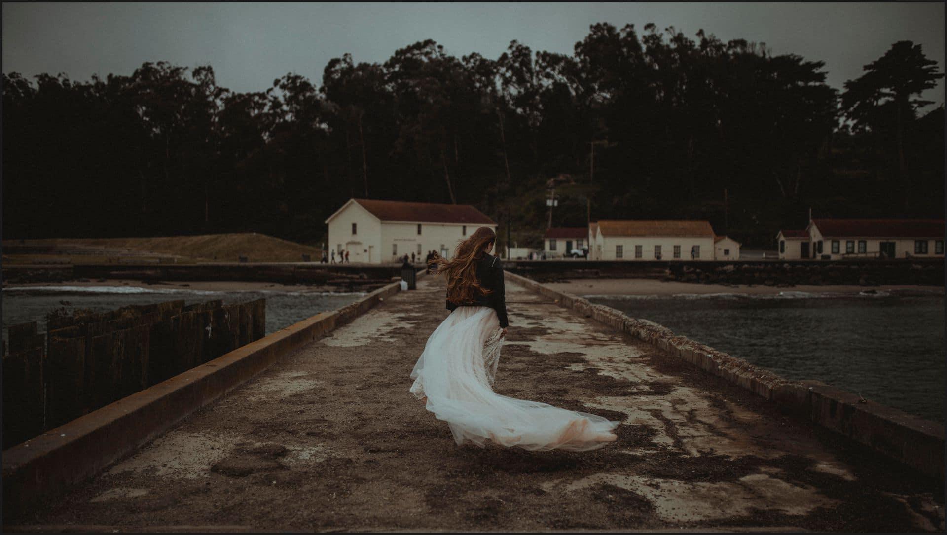 san francisco, california, elopement wedding, bride dress