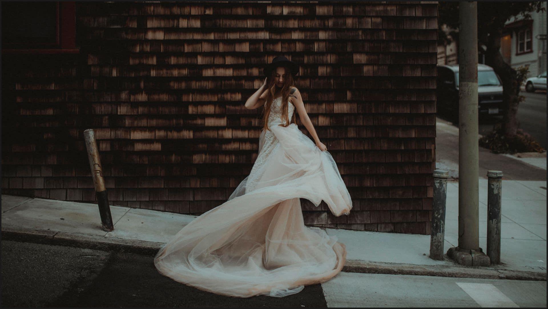 san francisco, california, elopement wedding, dress, bride