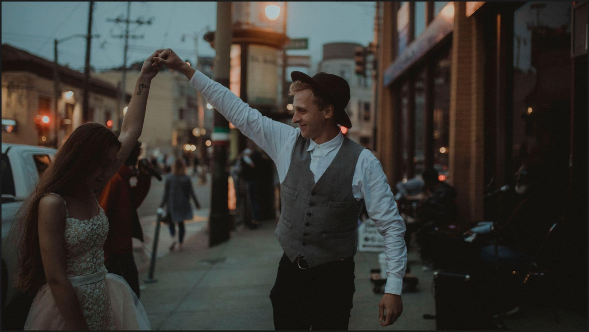 bride, groom, dancing, candid, san francisco, california, elopement wedding
