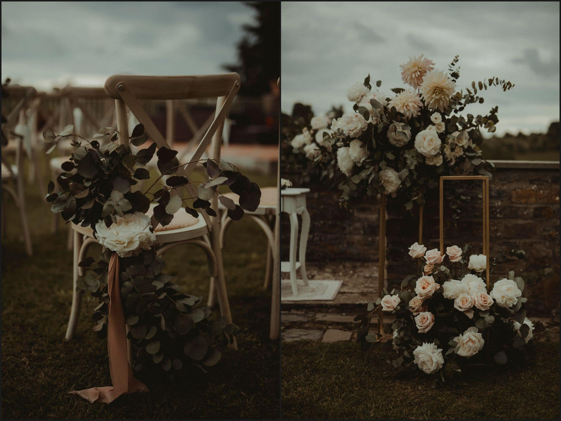 tuscany, destination wedding, chianti, flowers, details, wedding ceremony